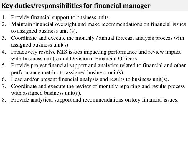 Financial manager job description – Financial Manager Job Description