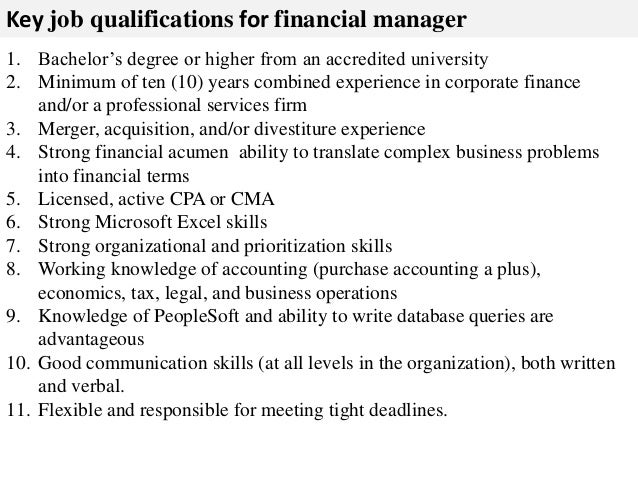 Manager Job Description SeniorBrandManagerJobDescription – Finance Director Job Description