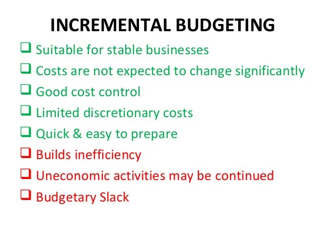 disadvantages of budgetary slack