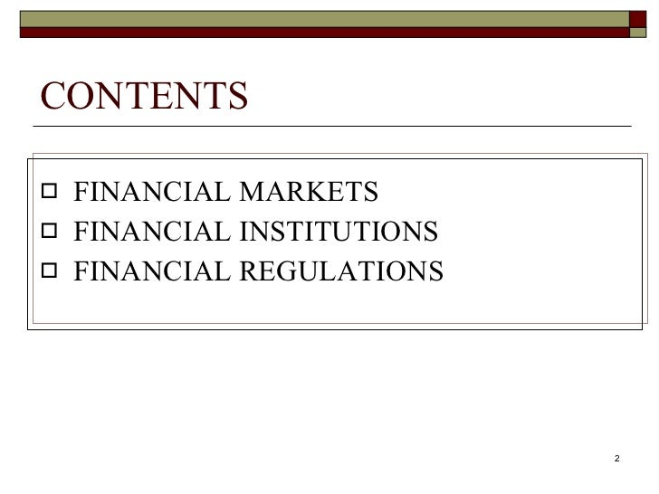 Financial market and institutions Slide 2