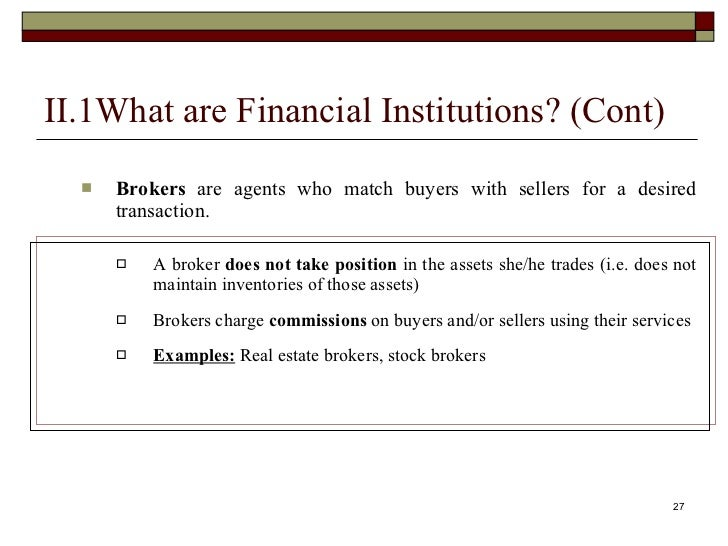 reflection on financial markets and institutions What can investors learn from financial history that will help them today  research foundation book financial market history: reflections on the  institutions.