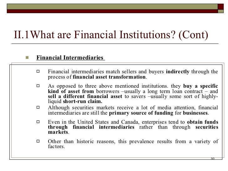 Financial Institution - FI