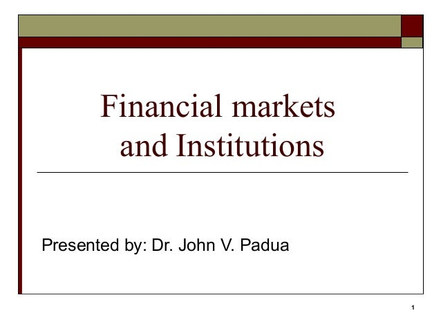a study of investment and financial market Definition of financial feasibility: a study on whether a project is viable after taking into consideration its total costs and probable revenues if.