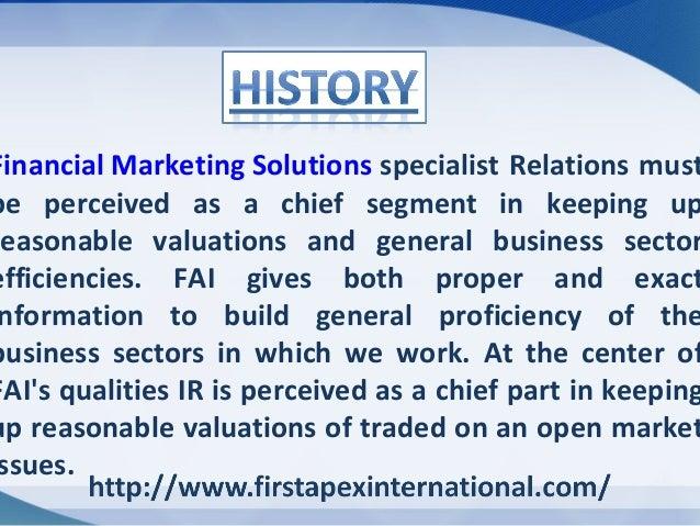 Investor Relation Social Media Capital Marketing Advisory Financial Marketing