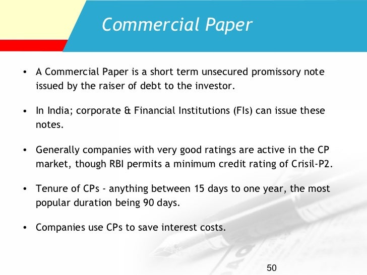 commercial paper market in india