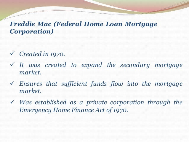 Mortgage Markets (Financial markets & institution)