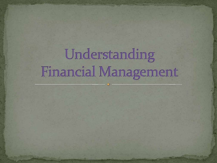 Financial management is an integrated decisionmaking process, concerned with acquiring,managing and financing assets to ac...