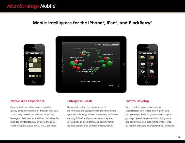 Mobile Intelligence for the iPhone®, iPad®, and BlackBerry®                                                     iPad      ...