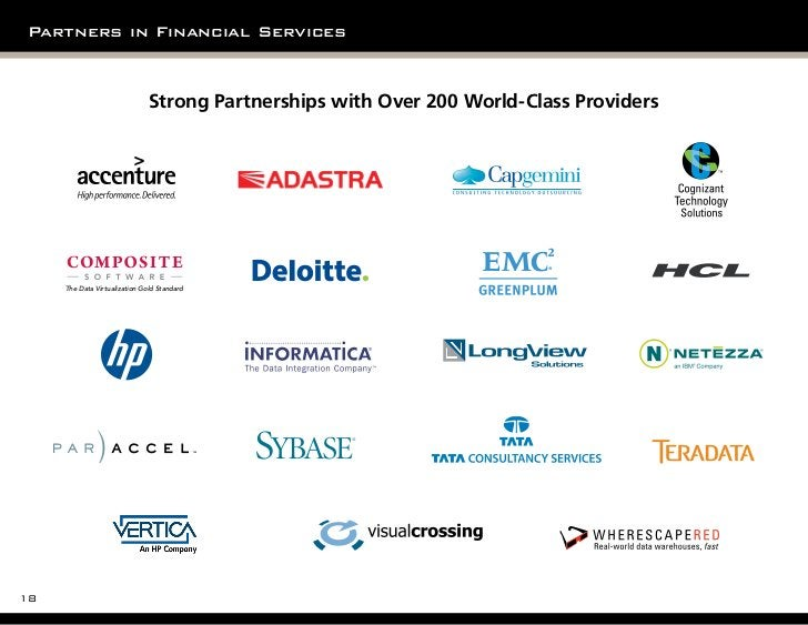 Partners in Financial Services                                 Strong Partnerships with Over 200 World-Class Providers    ...