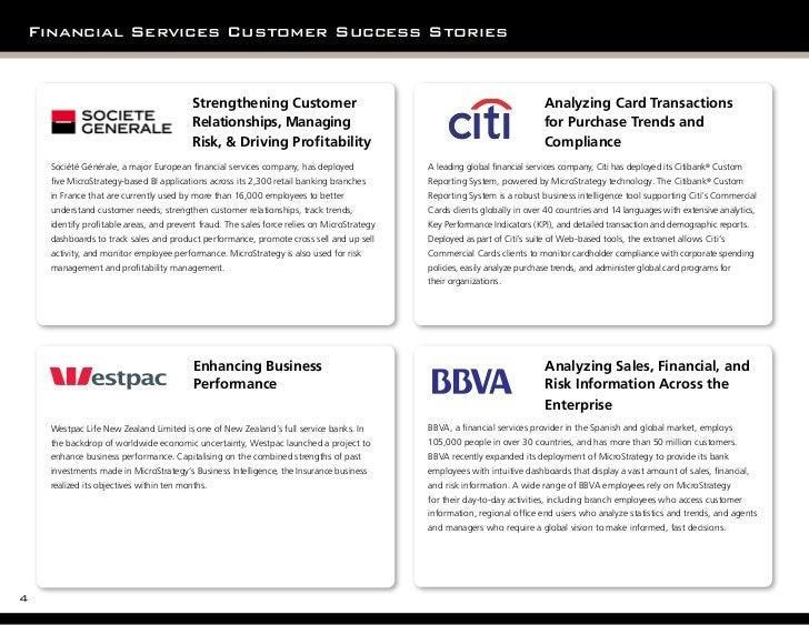 Financial Services Customer Success Stories                                            Strengthening Customer             ...