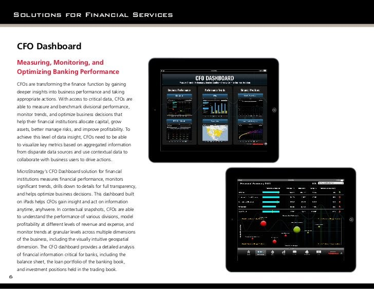 Solutions for Financial Services    CFO Dashboard    Measuring, Monitoring, and    Optimizing Banking Performance         ...