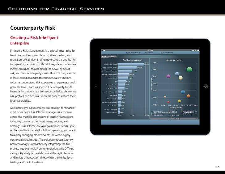 Solutions for Financial ServicesCounterparty RiskCreating a Risk IntelligentEnterpriseEnterprise Risk Management is a crit...