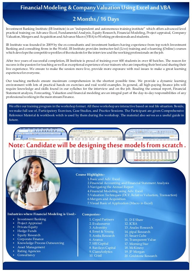Financial Modeling Training in India