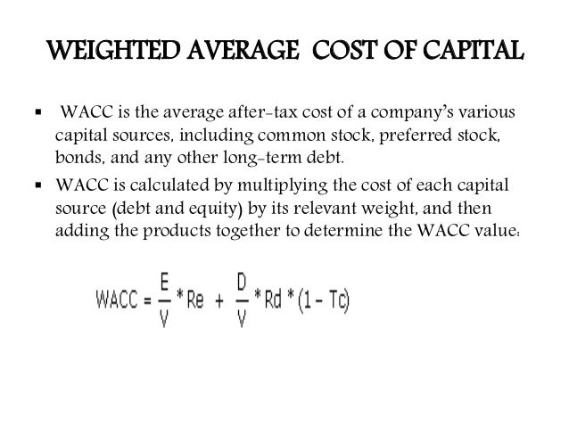 """estimate vodafone group cost of equity capital and its weighted average cost of capital Weighted average cost of capital (""""wacc"""") is the average of the cost of equity and the cost of debt capital (including preference share capital."""