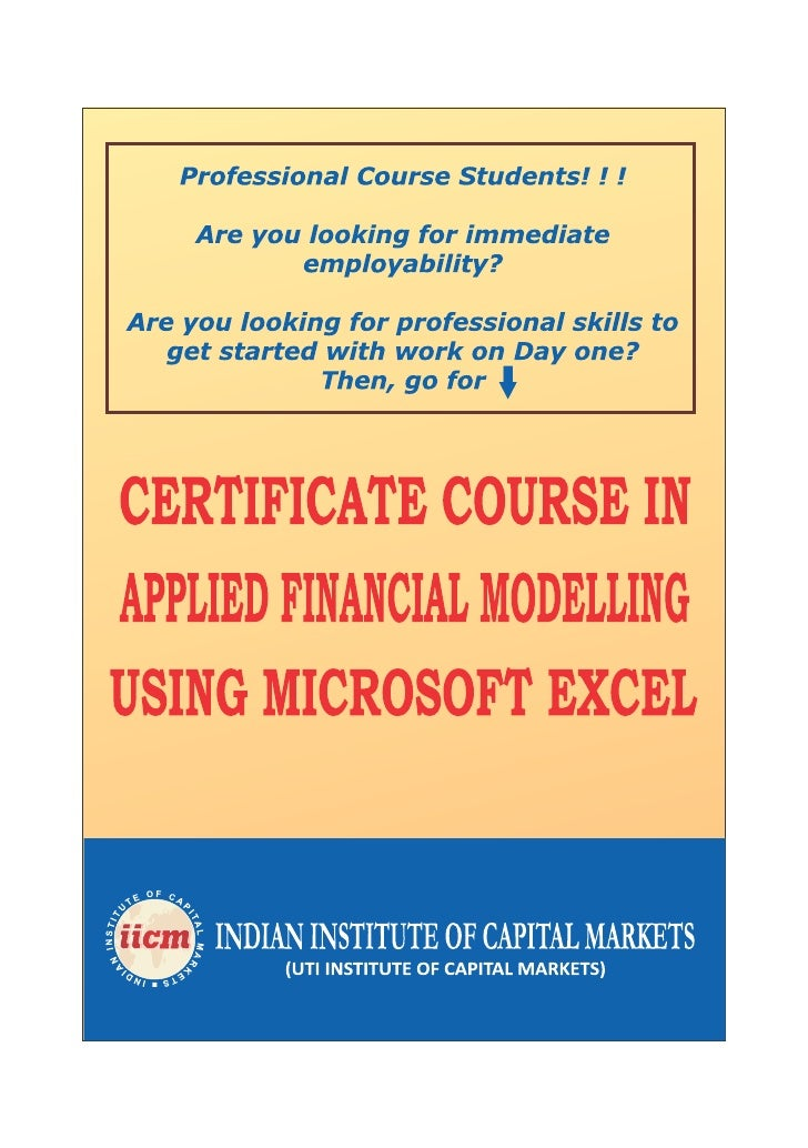 REGISTRATION FORM                   INDIAN INSTITUTE OF CAPITAL MARKETS                                     CERTIFICATE CO...
