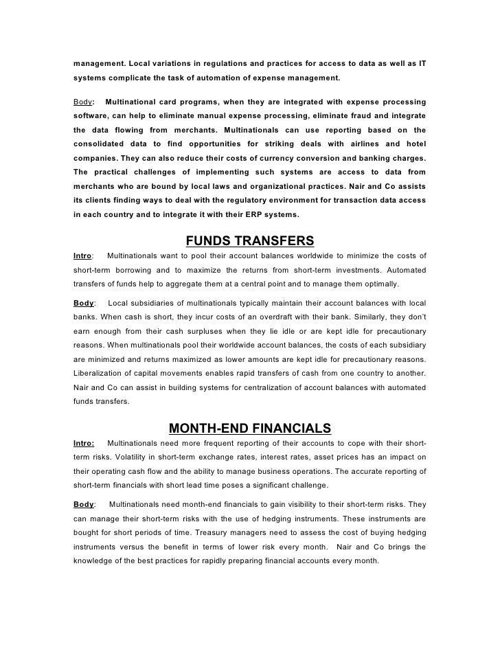 Financial management challenges essay