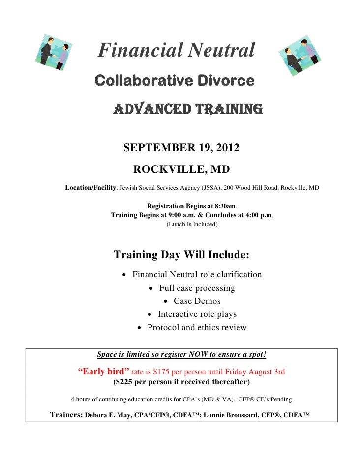 Financial Neutral              Collaborative Divorce                     Advanced Training                        SEPTEMBE...