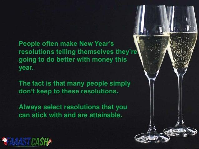 Financial New Year Resolution 2016 Slide 2