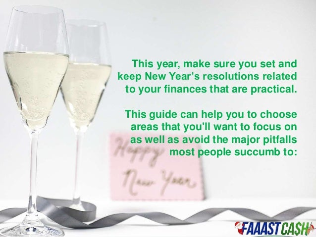Financial New Year Resolution 2016 Slide 3