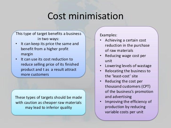 Financial objectives Raising The Minimum Wage