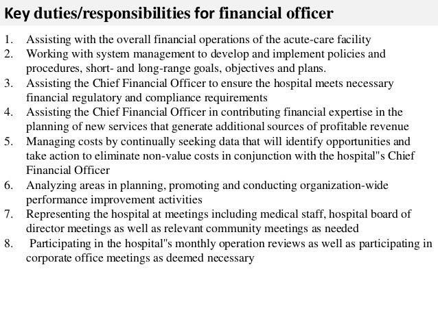 Financial officer job description - Compliance officer job description financial services ...