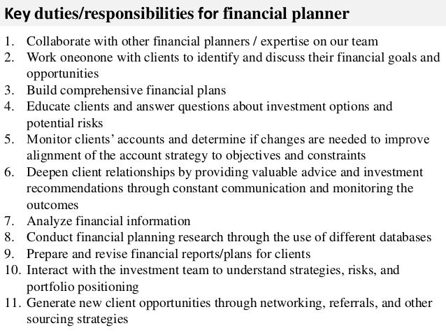 financial advisor description