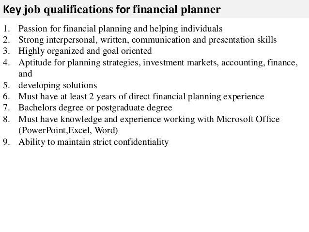 ... And Other Sourcing Strategies; 3. Key Job Qualifications For Financial  Planner ...