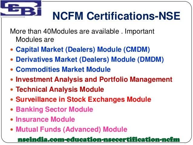 Ncfm derivatives module