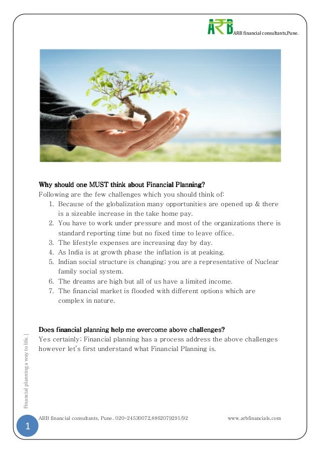 Financial Planning A Way To Life
