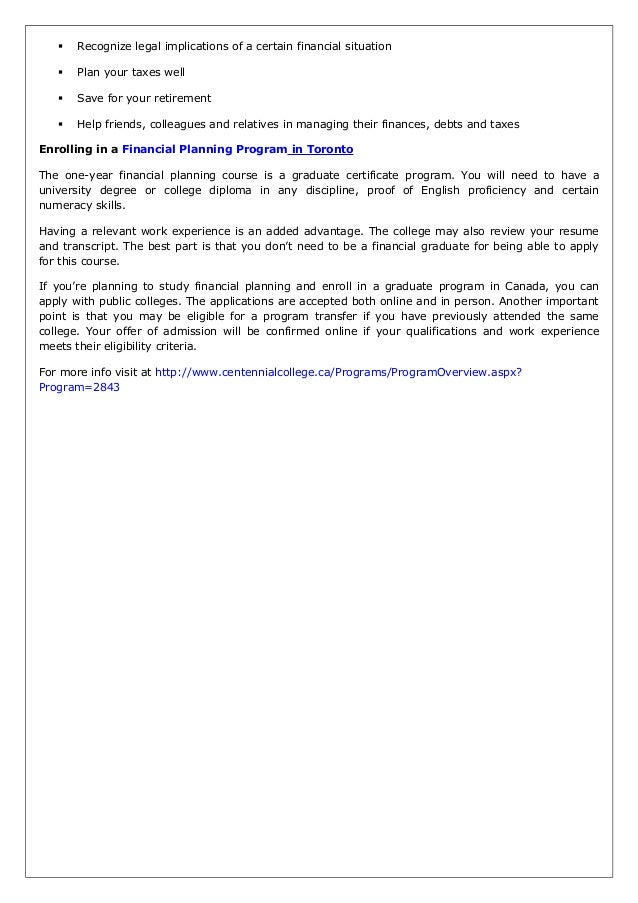 Financial Planning Certification Exposes You To Multiple Career Choic