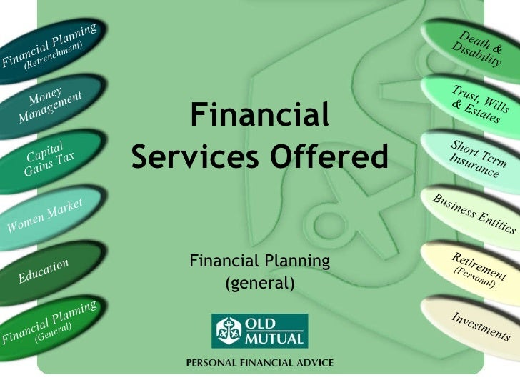 Financial Planning (general) Financial Services Offered Financial Planning  (Retrenchment) Money Management Capital Gains ...