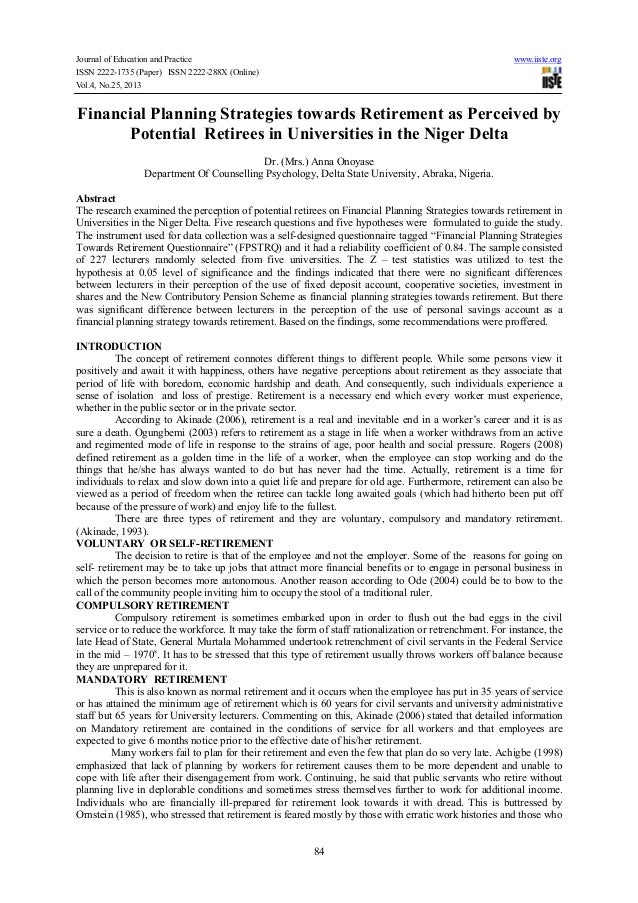 Journal of Education and Practice ISSN 2222-1735 (Paper) ISSN 2222-288X (Online) Vol.4, No.25, 2013  www.iiste.org  Financ...
