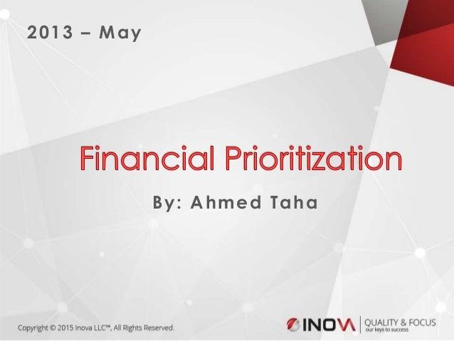 1 2013 – May By: Ahmed Taha