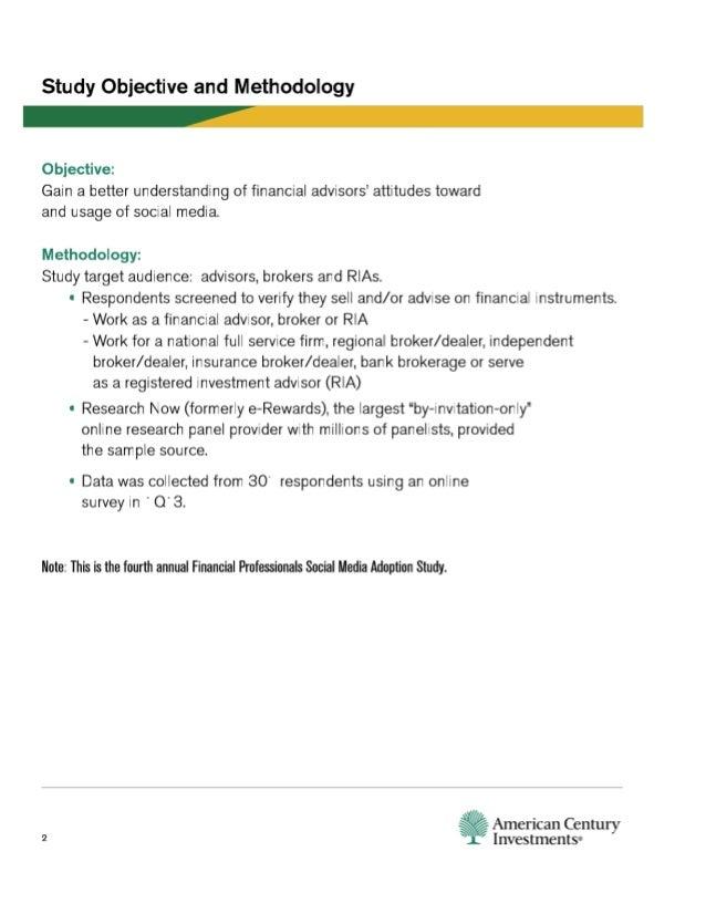 Financial Professionals Social Media Adoption Study 2013 Slide 2