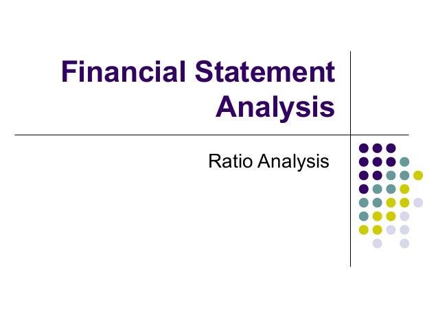 Financial Statement Analysis Ratio Analysis