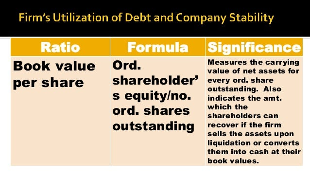 Liquidating dividend calculation formula
