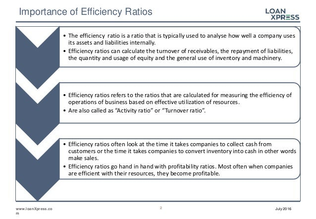 Financial Ratios - Introduction to Efficiency Ratios
