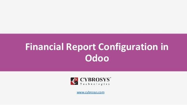 Financial Report Configuration in Odoo www.cybrosys.com