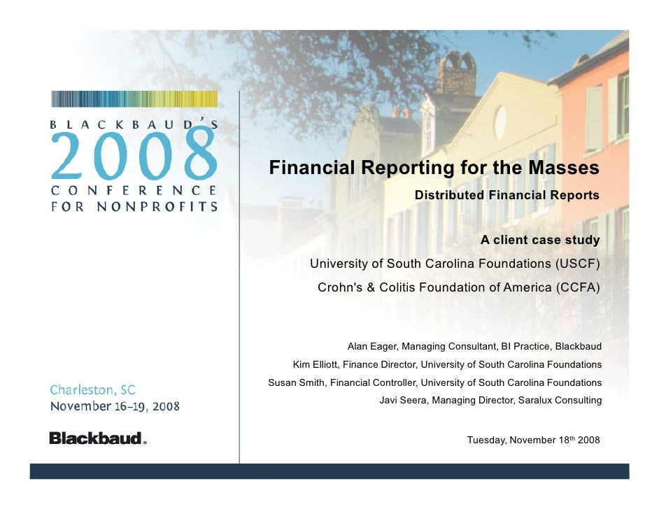 Financial Reporting for the Masses                                Distributed Financial Reports                           ...