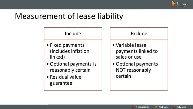 aasb 117 • the key differences between aasb 117 and aasb 16 • what is a lease • exceptions to lease accounting • separating the lessee into its components.