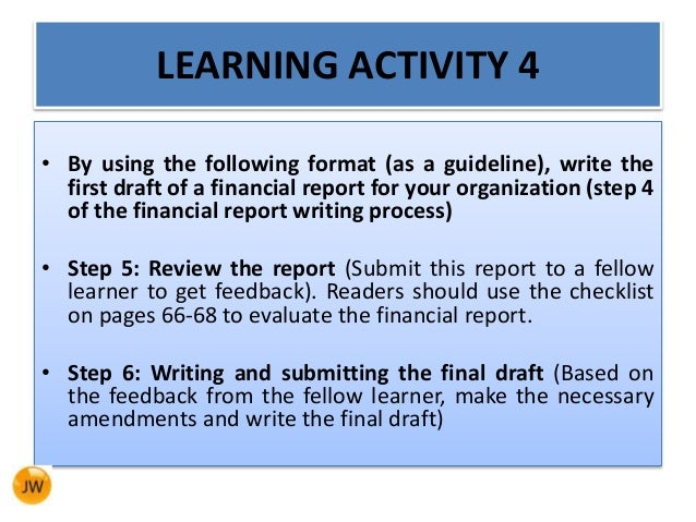 how to write financial report How to write an awesome annual report- a step-by-step guide.