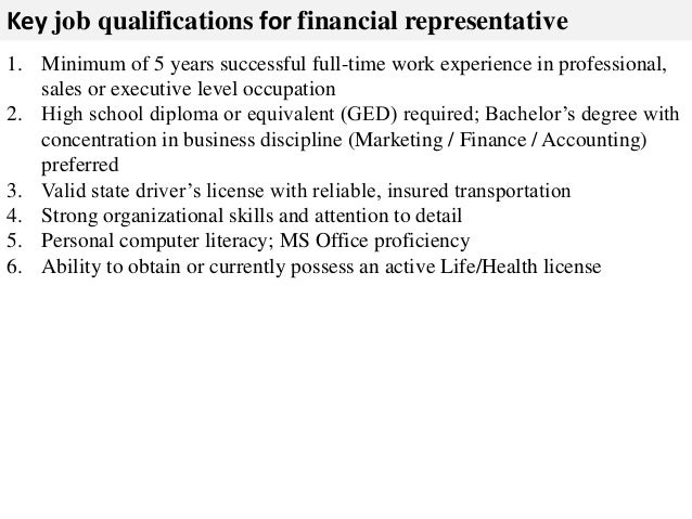 Financial representative job description – Sales Rep Job Description