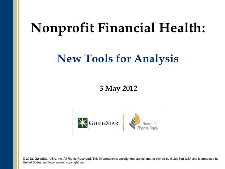 Nonprofit Financial Health:                        New Tools for Analysis                                                 ...