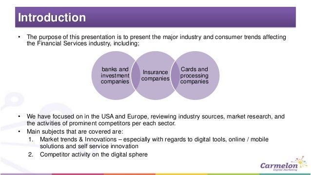 Industry trends financial services