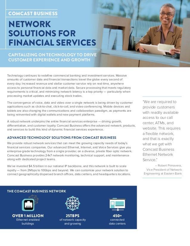 Network Solutions For Financial Services