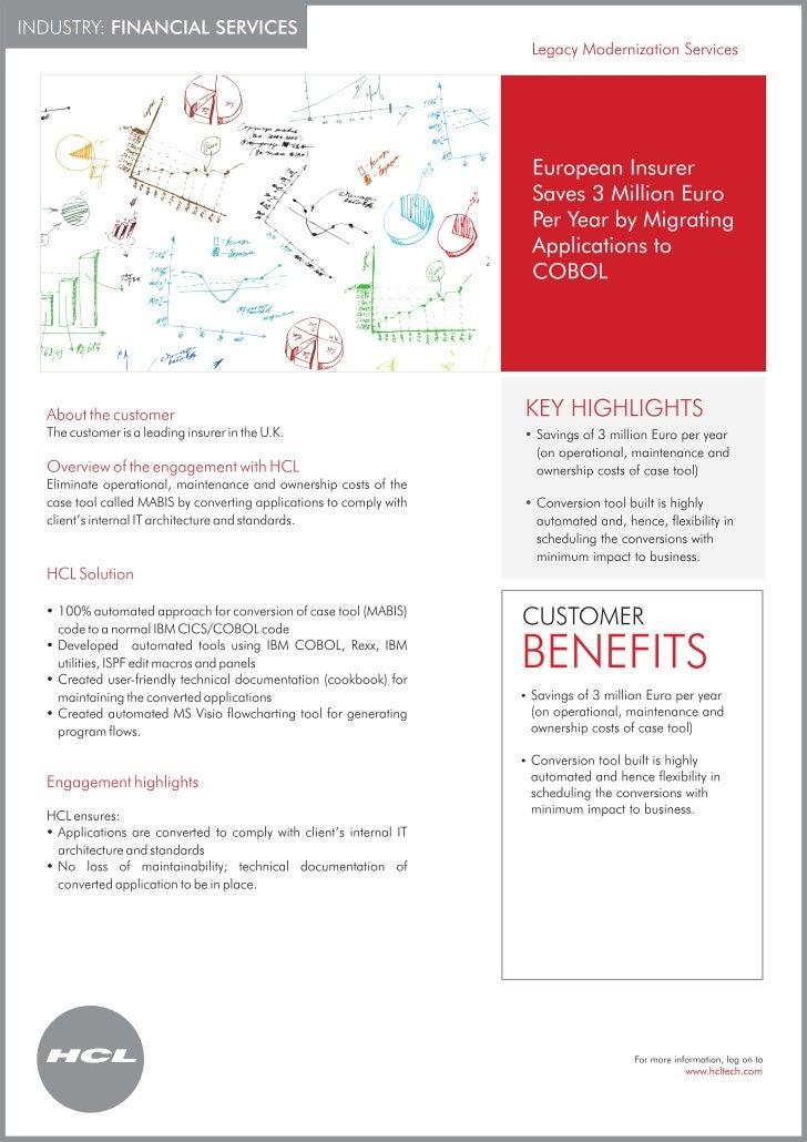 Financial Services Case Study: HCLT enables European Insurer save 3 Million Euro