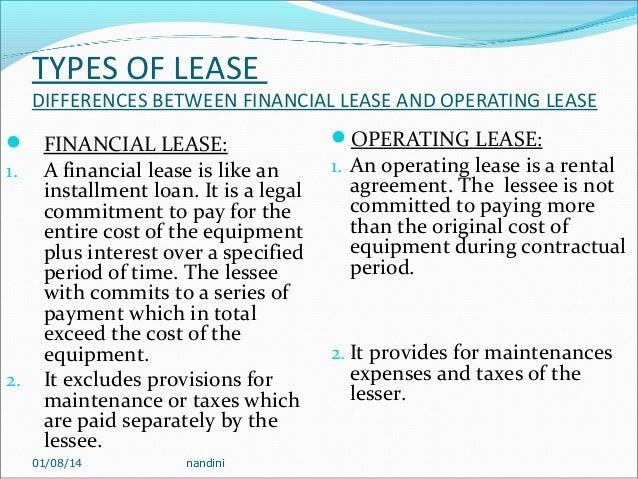 Difference Leasing And Financing A Car