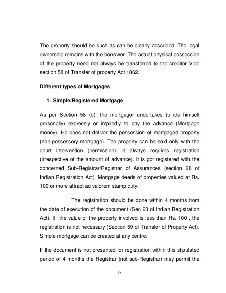 Can A Mortgage Of Real Property Act Land Be Transferred