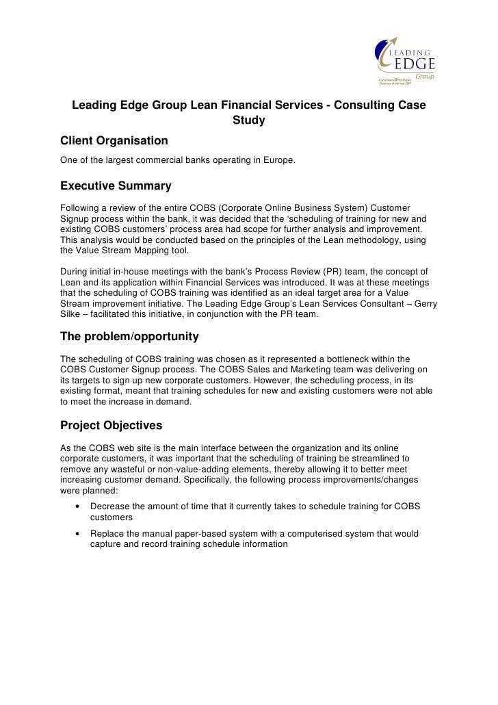 Lean case studies in service