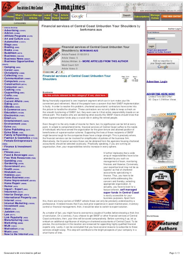 www.amazines.com - Thursday, January 03, 2013           Whats Submit/Manage Latest Top Article                            ...